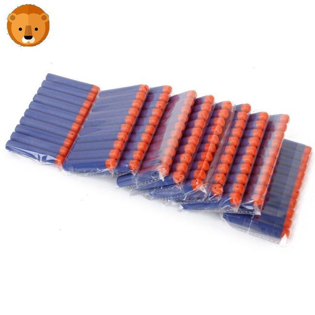HeroNeo® 100Pcs Toy Gun Refill Foam Soft Darts Bullet For Nerf N-strike Series Blasters 7.2×1.2cm