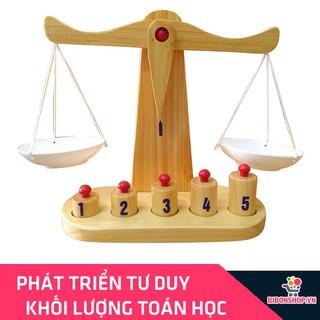 Cân Học Toán Bằng Gỗ Cho Bé Phân Biệt Nặng Nhẹ Đồ Chơi Giáo Dục Hàng Việt Nam