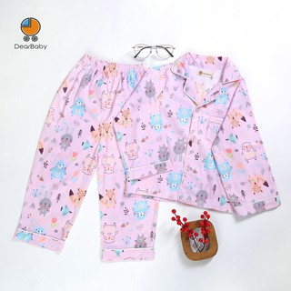 Set Pijama Họa Tiết Gấu Và Thỏ Cho Bé DearBaby P-01 thumbnail