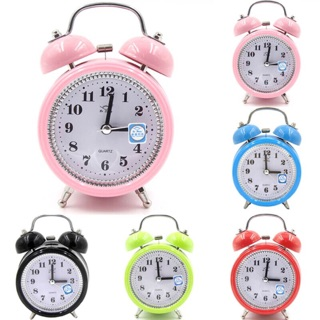 Đồng hồ báo thức để bàn bằng sắt chuông kêu to