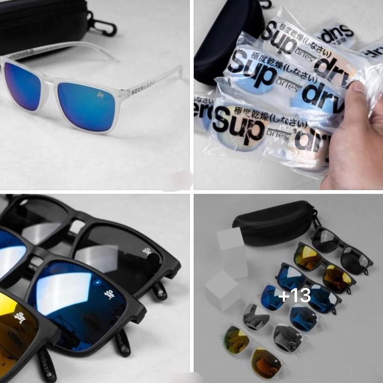 [Siêu Mỏng] Mắt Kính Mát unisex SuperDry -Shockwave FullBox Chống Tia UV400