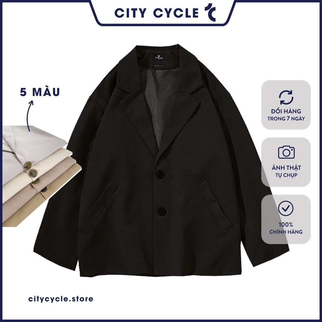 Áo khoác Blazer nam nữ City Cycle - Áo vest nam Unisex 2 lớp kaki cao cấp Local Brand