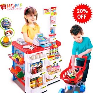 Bộ đồ chơi siêu thị mini có xe đẩy