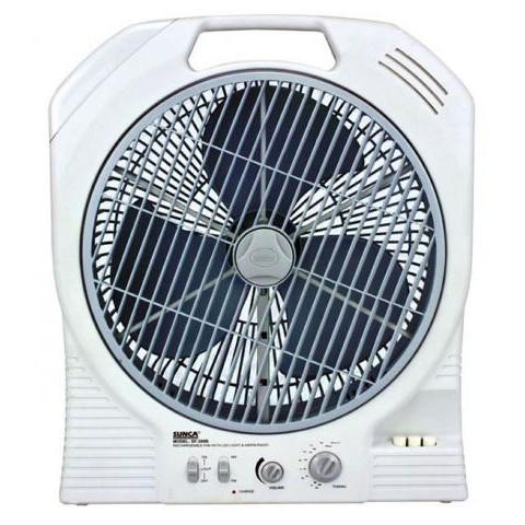 [ELHAP5 giảm tối đa 200k]Quạt tích điện cao cấp 2 ác quy Sunca SF399A hàng chính hãng