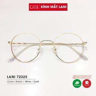 Gọng kính cận nam nữ tròn vintage nhỏ càng kim loại thanh mảnh dễ thương Lani 72325 - Lắp Mắt Cận Theo Yêu Cầu thumbnail