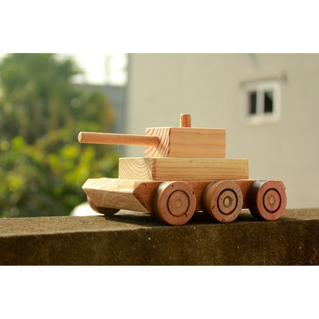 Đồ chơi gỗ phát triển trí tuệ Xe Tăng Đồ Chơi Bằng Gỗ