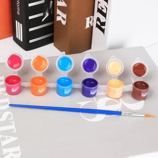 Bộ 8 màu tô tượng 3ml kèm bút lông(NÊN MUA KÈM DIỀU VẢI,CHONG CHÓNG,QUẠT GIẤY)