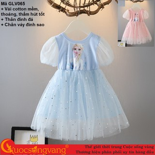 Váy công chúa elsa váy đầm bé gái đính đá GLV065