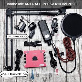 Combo Sound Card K10-2020 Và Micro Thu Âm AQTA ALC-280
