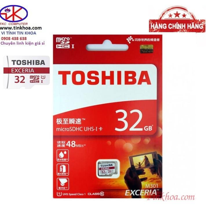 Thẻ nhớ 32gb TOSHIBA CLASS 10 chính hãng phân phối.