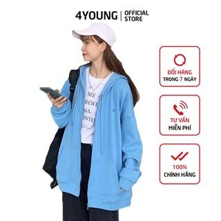 Áo khoác nữ form rộng có dây kéo 4YOUNG ID thumbnail