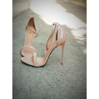 [Mã FASHIONRNK giảm 10K đơn 50K] Sandal cao gót 11P màu nude thumbnail