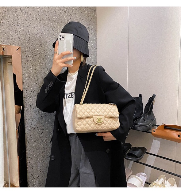 Túi xách nữ đeo chéo hót nhất 2021 chất da mềm nhiều ngăn