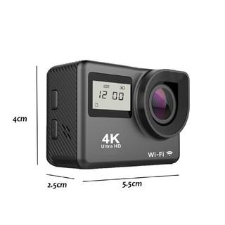 Máy quay màn hình kép định dạng 4K 2.4G kết nối wifi thiết kế nhỏ gọn tiện dụng
