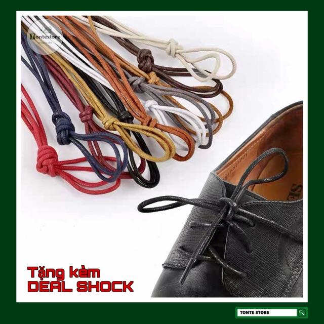 Dây giày sáp tròn cho giày da, giày tây, giày thời trang cao cấp( phủ sáp chống nước) DGDA01