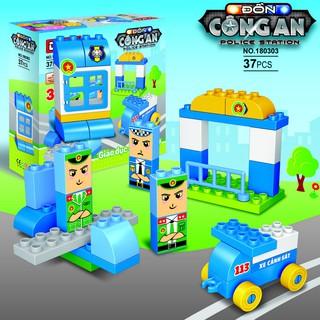 Bộ đồ chơi Duka – Ghép hình – Đồn công an (Z180303) – Dành cho trẻ 3-6 tuổi – 28 x 26 x 9 cm