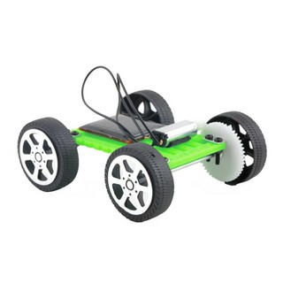 1Pc Mini Solar Toy DIY Car Children Educational Puzzle IQ Gadget Hobby Robot
