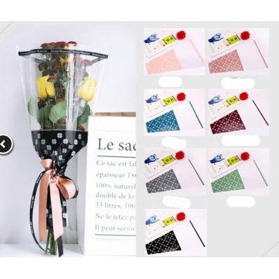 Tập giấy gói hoa bó to 10 tờ / tập nguyên liệu gói hoa