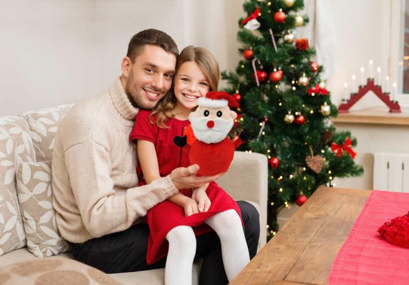 Santa Claus Doll Double-sided Flip Father Christmas Snowman Plush Doll Xmas Christmas Decor Kid Toy Gift