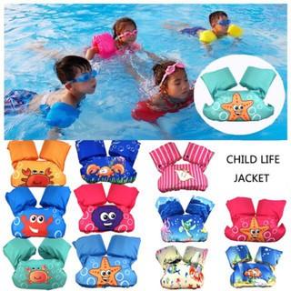 Summer High Quality Children Kids Swim Life Jacket Life Vest Puddle Jumper🎉 Sunny