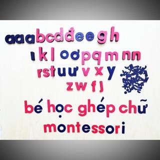 Bộ ghép chữ rời – Giáo cụ Montessori