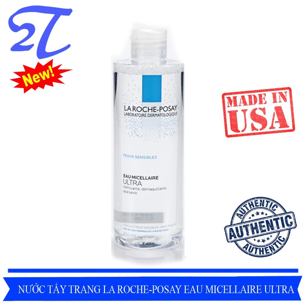 (Auth) Nước Tẩy Trang không cồn cho da nhạy cảm La Roche-Posay Eau Micellaire Ultra peaux reactives 400ml