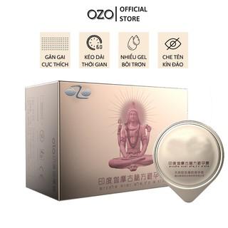 Bao cao su OZO 0.01 India Gamma Formula gân gai, nhiều gel, kéo dài thời gian quan hệ - Hộp 10 bcs-olo store thumbnail