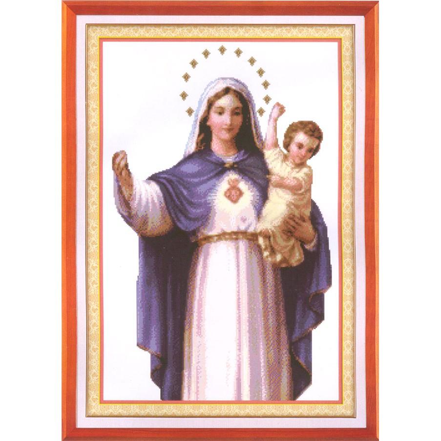 Đức Mẹ Thương Xót Tranh thêu chữ thập