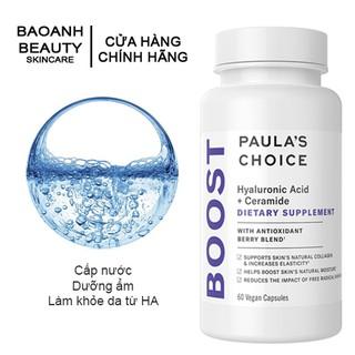 Viên uống cấp nước Paula's Choice HYALURONIC ACID + CERAMIDE DIETARY SUPPLEMENT 60 viên 9570