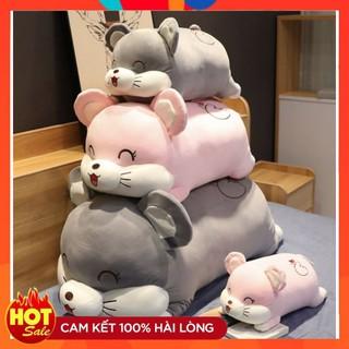 Gấu Bông Gối Ôm Chuột Bông Mắt Ngủ Mềm Mịn thumbnail