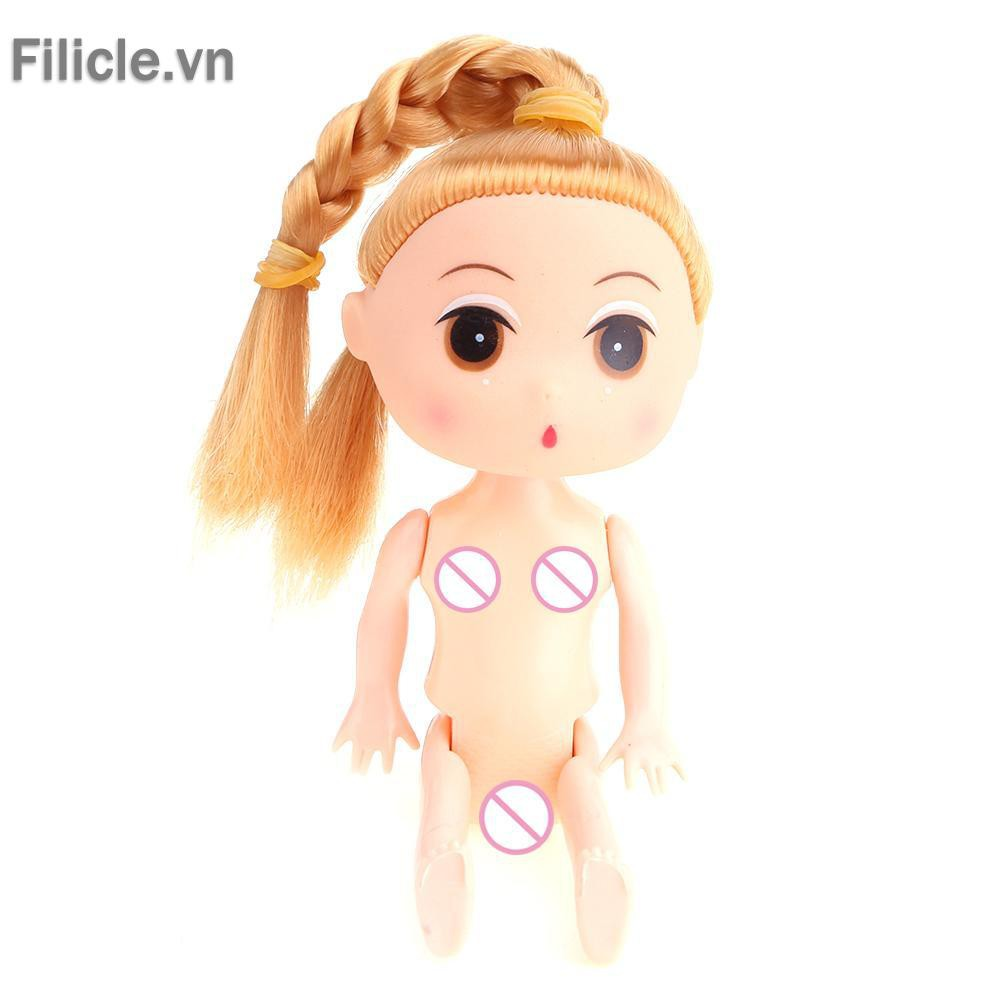 BEST FOR YOU! 12cm Doll Body Solid Environment-Friendly Naked Body Baking Cake Doll Toy