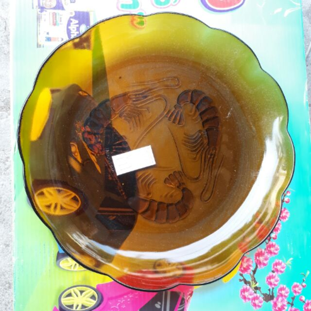 Dĩa thủy tinh cao cấp 23 cm