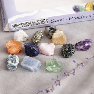 Bộ sưu tập đá gồm 12 mẫu đá và khoáng sản giáo dục tiện dụng cho trẻ
