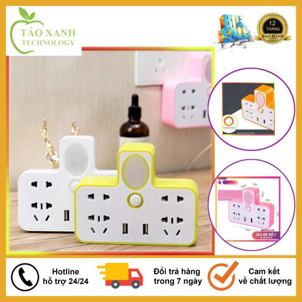 Top Sản Phẩm Bán Lẻ Ổ Cắm Điện Đa Năng Hình Chữ T Phát Sáng Kiêm Đèn Ngủ,  Kèm 2 Cổng USB Siêu Tiện Dụng tại Hà Nội