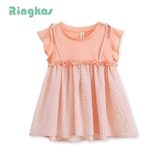 Ringkas đầm chấm bi đầm bé gái váy bé gái đầm công chúa xinh xắn cho bé gái từ 1-5 tuổi
