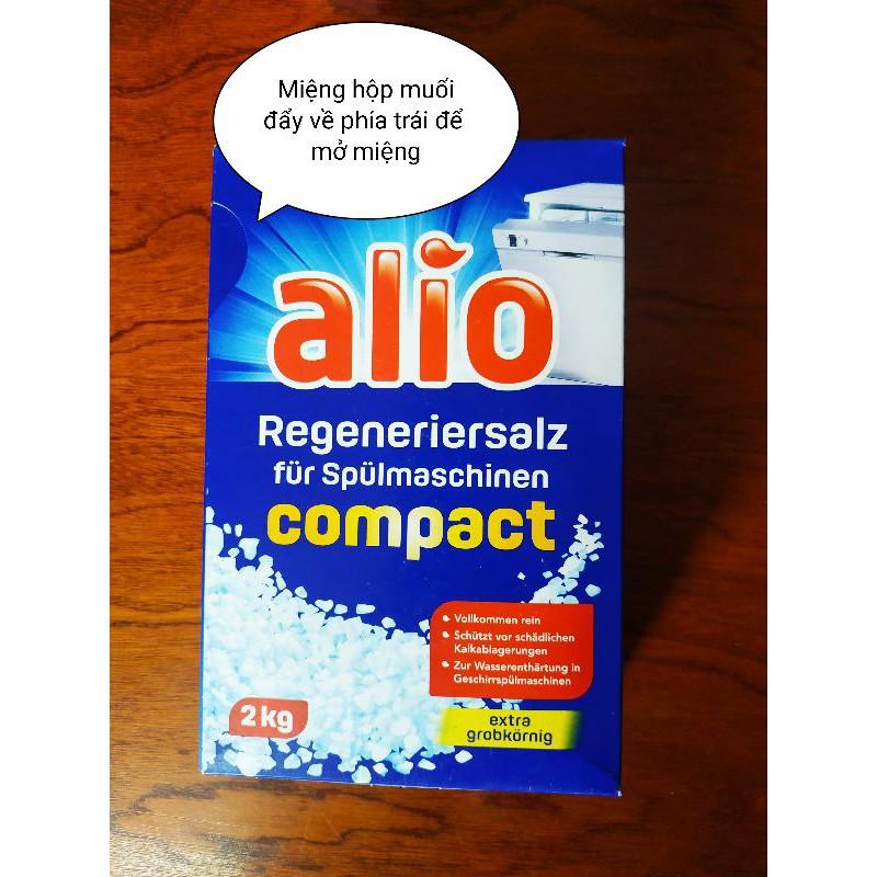 Muối làm mềm nước Alio 2 Kg Chuyên dùng cho Máy Rửa Chén Bát