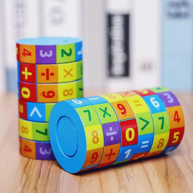 Rubik toán học ♡ freeship ♡ đồ chơi thông minh gỗ, hàng Việt Nam