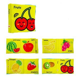 [ RẺ VÔ ĐỊCH] Bộ 6 cuốn sách vải Lakarose chủ đề Jungly animal, Fruits, Toys, Articles reoilare88
