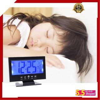 Đồng hồ Báo Thức Cảm Biến Âm Thanh, Đô Rung Cao Cấp DS8082 thông minh