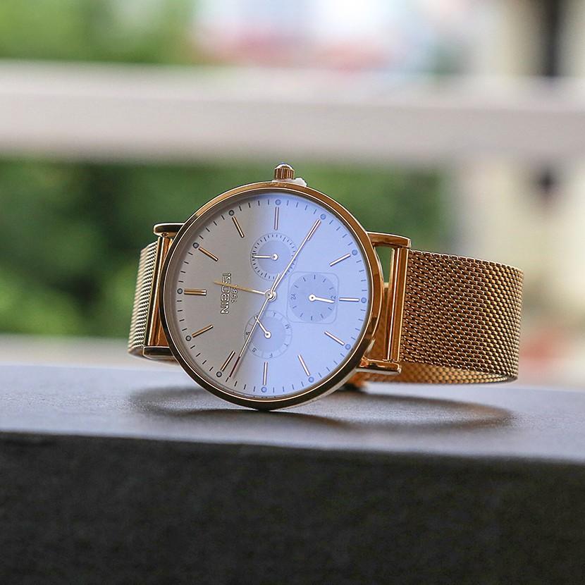 [Tặng vòng tay]Đồng hồ nam NIBOSI chính hãng NI2321-1.02 dây thép không gỉ