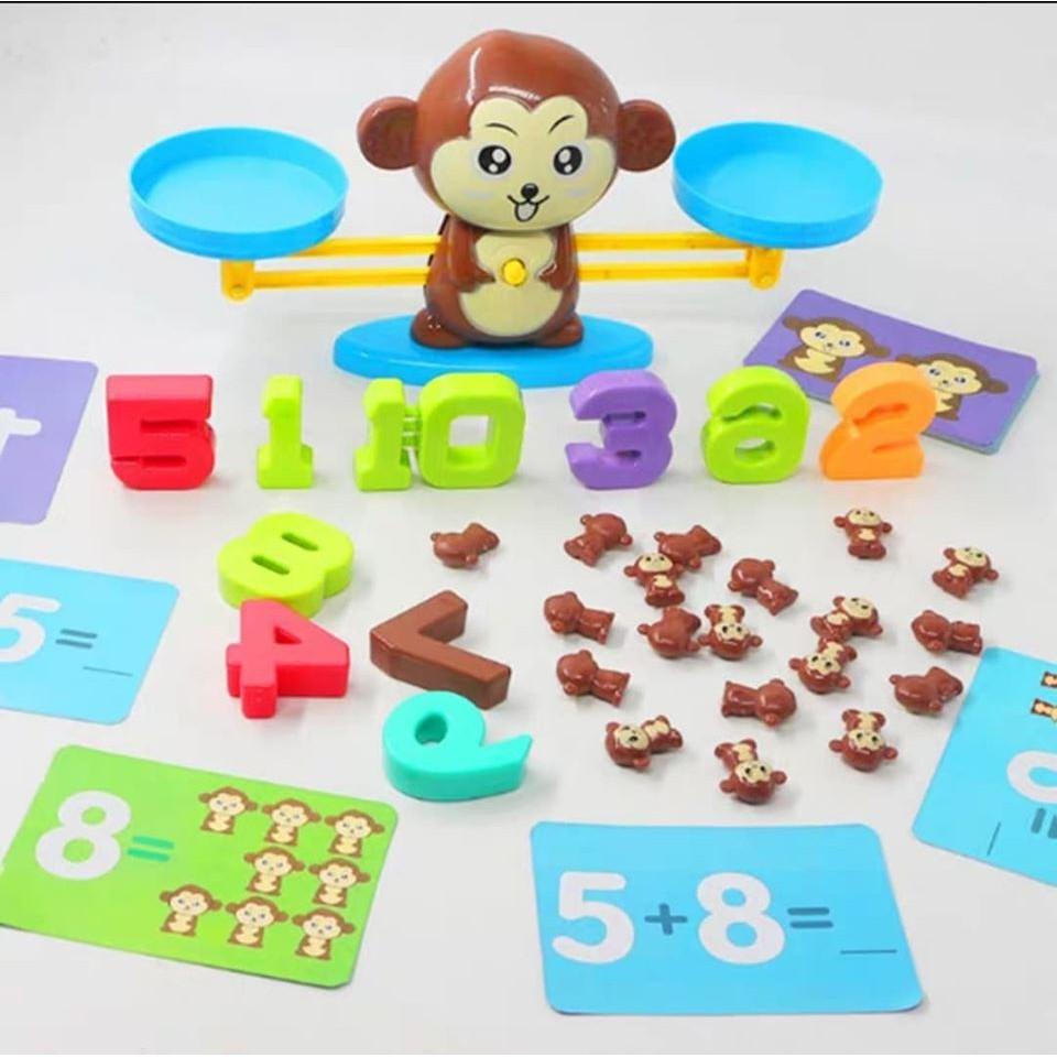 Bình luận Đồ chơi giáo dục - cân bằng toán học khỉ con/ thông minh - Đồ  khuyến mãi giá tốt
