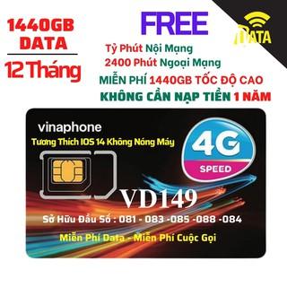 SIM4G VD149 Vinaphone ( Miễn phí Gọi + Vào Mạng 1 Năm Tốc Độ Cao )Có Video kèm test Tốc Độ,Bảo Hành 12 Tháng