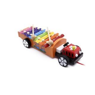 [ HOT DEAL ] Đàn xe kéo ô tô – Đồ chơi gỗ an toàn cho bé