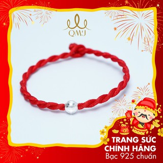 QMJ Vòng tay chỉ đỏ Bi bạc 925 mix dây tơ lụa xoắn, xinh xắn và may mắn - Q132 thumbnail