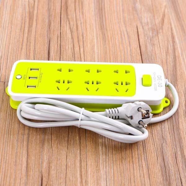 ổ cắm điện đa năng 6 ổ cắm 3 cổng USB chống giật mới