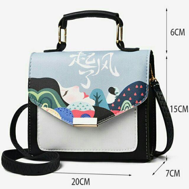 Túi đeo chéo họa tiết cô gái - TUINU19.0017