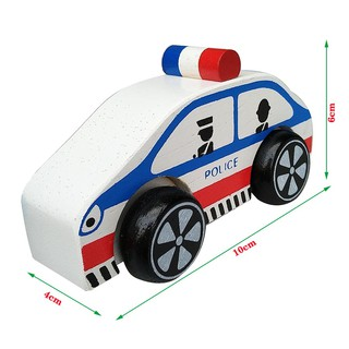 Xe cảnh sát bằng gỗ 69282