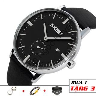 Đồng hồ nam classic dây da thời trang cao cấp chống nước SKMEI SM07 - Shop Ngọc Huyền