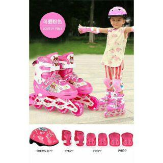 Giày trượt patin siêu hạng dành cho bé yêu( có kèm bộ bảo vệ) hàng luôn sẵn