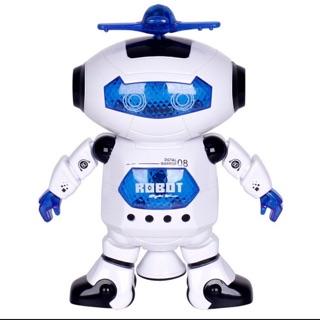 RoBot Xoay Có Đèn Phát Sáng 360 Độ